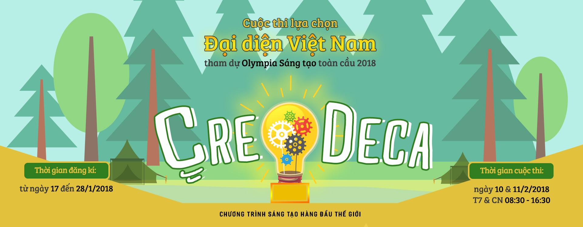 CUỘC THI SÁNG TẠO KHOA HỌC TOÀN CẦU - CREDECA 2018