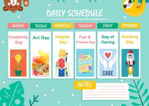 Daily Schedule in Coronavirus_Stemhouse_Arial