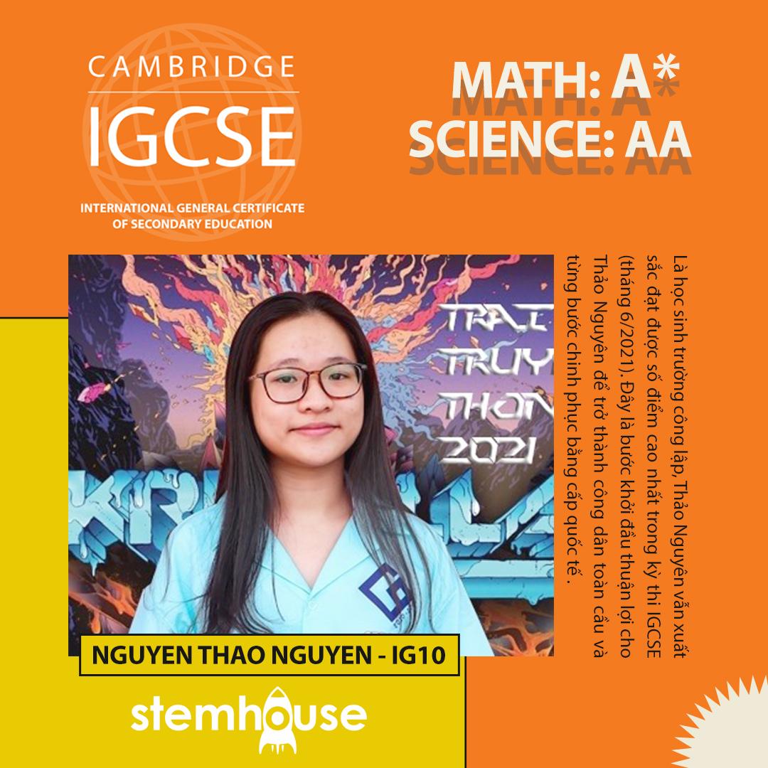 IGCSE_THAO NGUYEN_STEMHOUSE EDUCATION